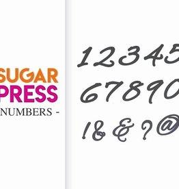 Sugar Press Large Number Set