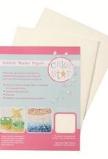 Cake Star Cake Star Edible Wafer Paper -White- pk/12