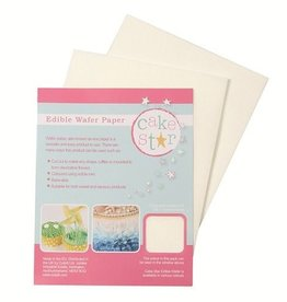 Cake Star Cake Star Edible Wafer Paper -White- pk/12