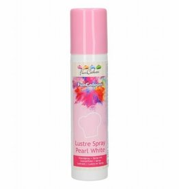 FunCakes FunCakes FunColours Metallic Spray -Pearl White- 100ml