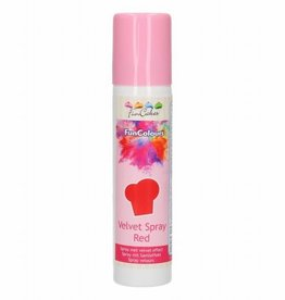 FunCakes FunCakes FunColours Velvet Spray -Red- 100ml