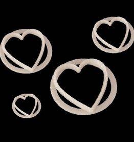 FMM Heart Cutter Set/4