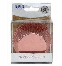 PME Baking Cups Metallic Rose Gold pk/30