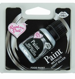 Rainbow Dust RainbowDust Metallic Food Paint Light Silver 25ml