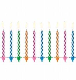 PartyDeco PartyDeco Verjaardag Kaarsen Magic Mix pk/10