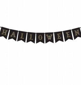 PartyDeco PartyDeco Banner - Halloween, Zwart