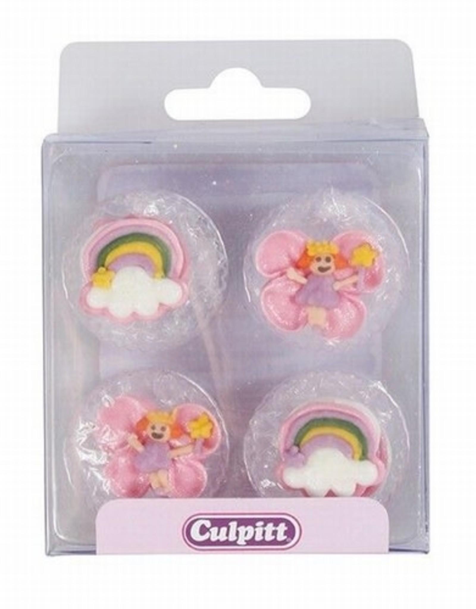 Culpitt Culpitt Suikerdecoratie Feeën en Regenbogen pk/12