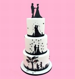 Patchwork Patchwork Cutters Wedding Silhouette Set