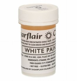 Sugarflair Sugarflair Edible Matt Paint -White- 20g