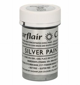 Sugarflair Sugarflair Edible Matt Paint -Silver- 20g