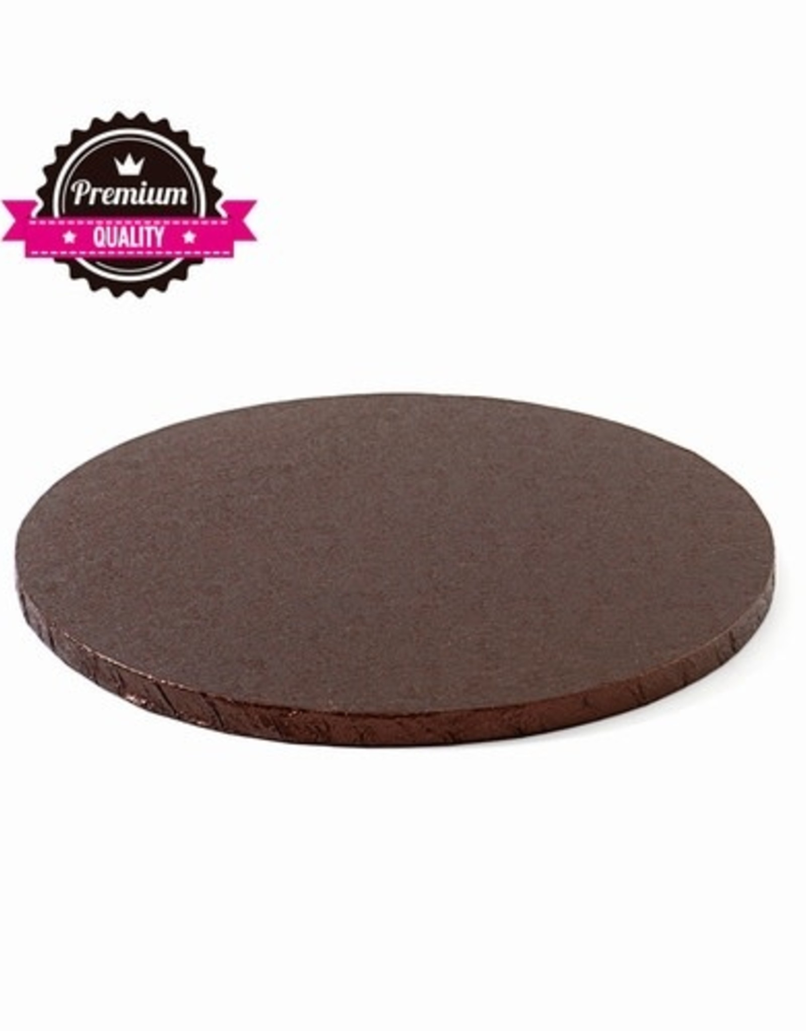 Cake Drum Rond Ø25cm Bruin