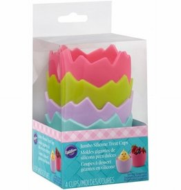 Wilton Wilton Hatched Jumbo Silicone Treat Cups pk/4