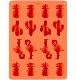 Wilton Wilton Silicone Candy Mold -Pinapple/Cacti/Flamingo-