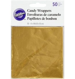 Wilton Wilton Foil Wrappers Gold pk/50