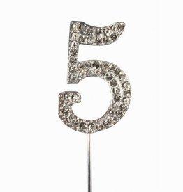 Cake Star Cake Topper Diamant Number 5