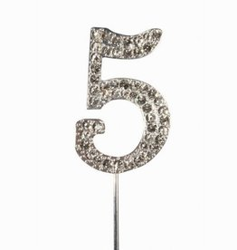 Cake Star Cake Topper Diamante Number 5