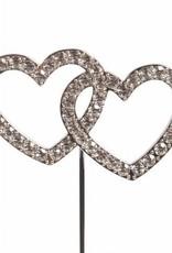 Cake Star Cake Star Cake Topper Diamante Double Heart