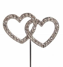 Cake Star Cake Star Cake Topper Diamante Double Heart