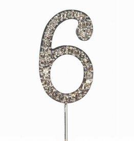 Cake Star Cake Topper Diamant Number 6