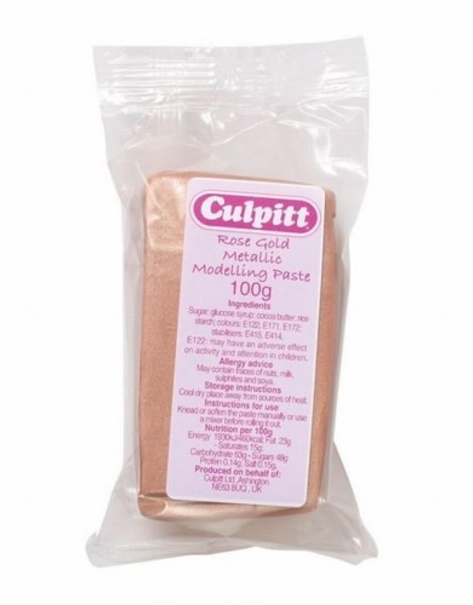 Culpitt Culpitt Modelling Paste Metallic - Rose Gold -100g-