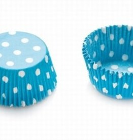 Decora Baking Cups Light Blue Dots 50X32mm/75