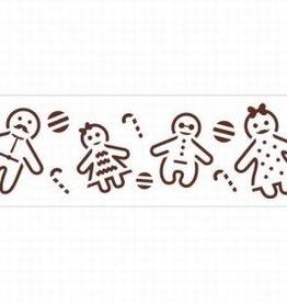 Decora Stencil 7x30cm Gingerbread Family
