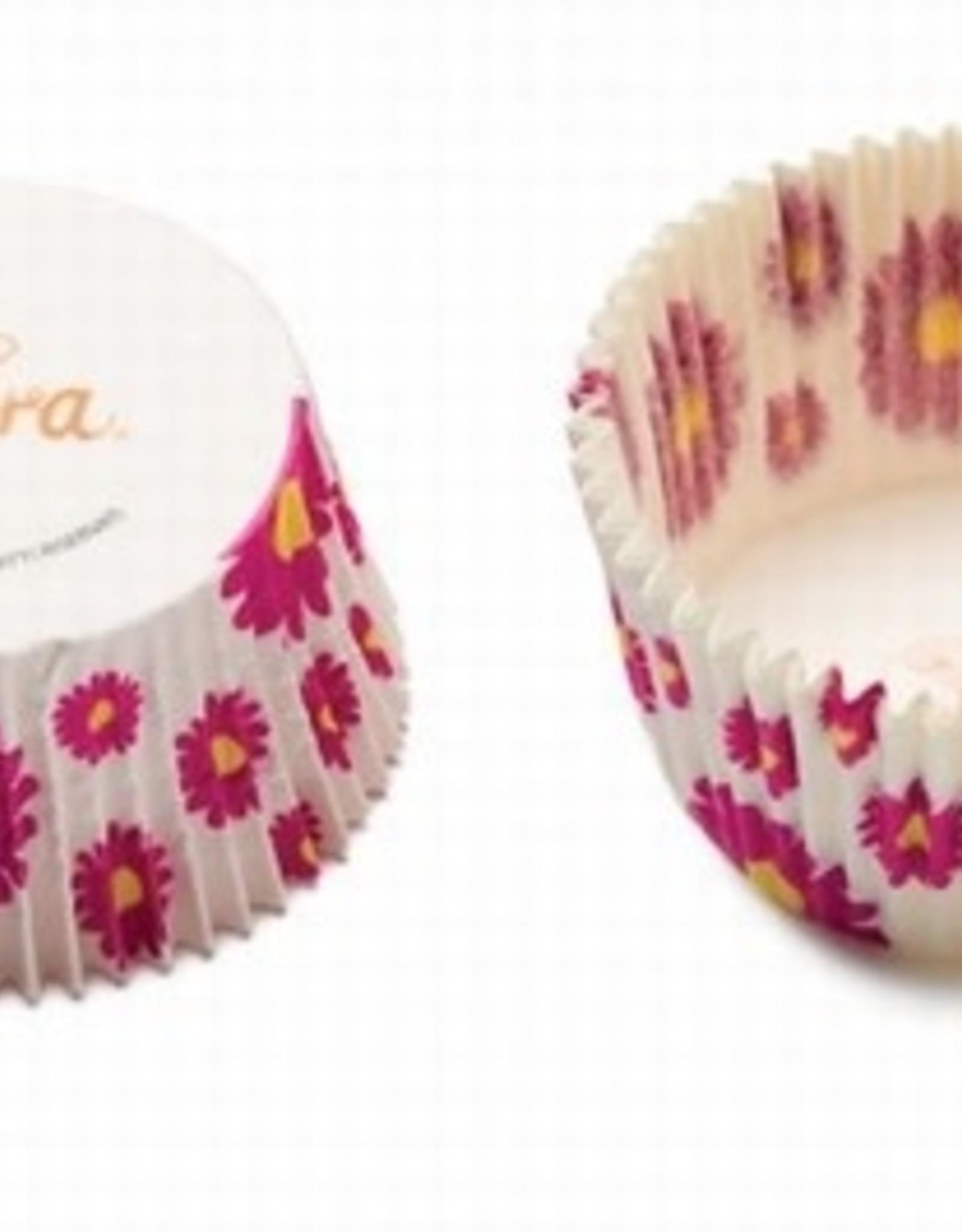 Decora Decora Baking Cups Fuchsia Flower 50X32mm/75