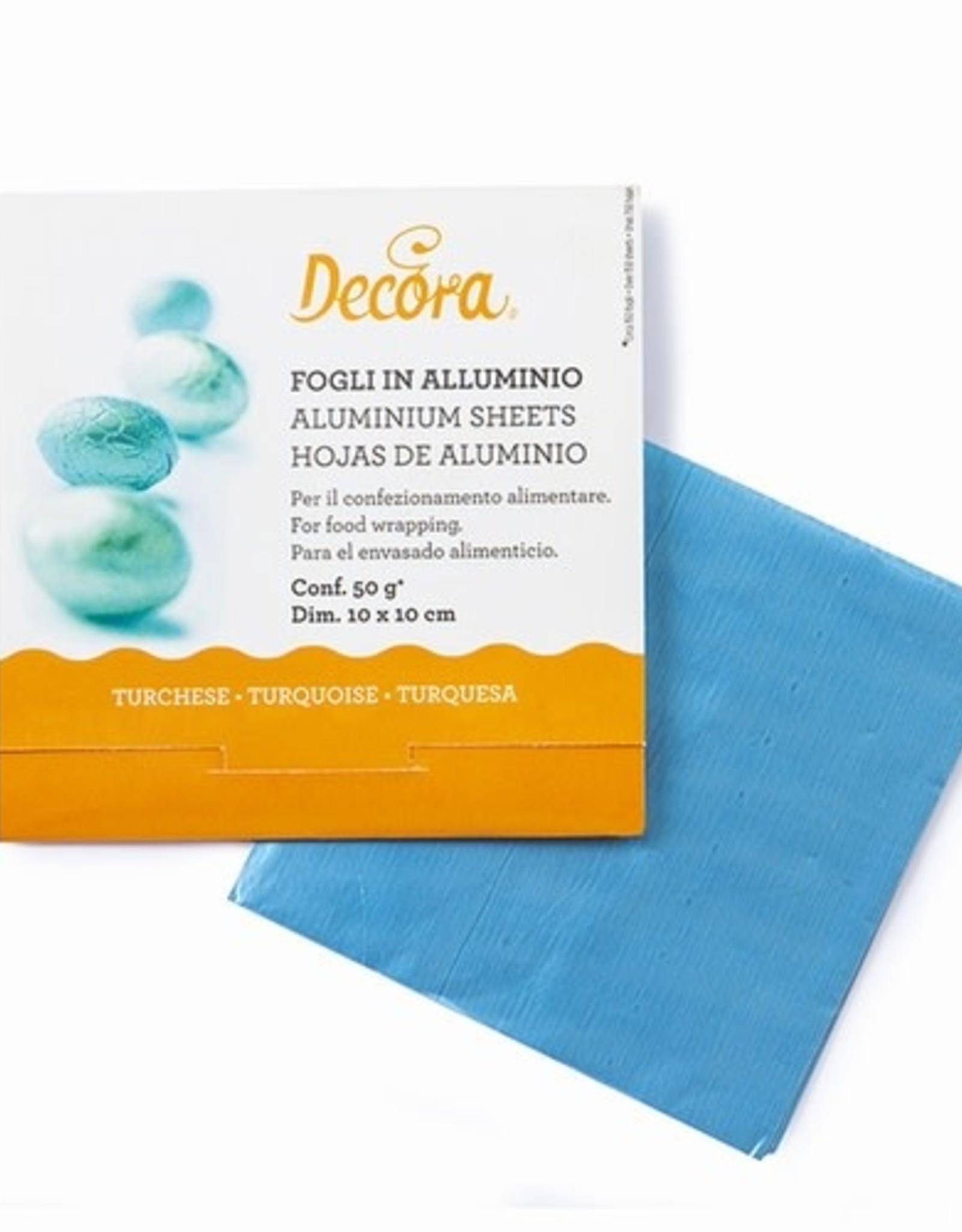Decora Decora Foil Wrappers Turquoise pk/150
