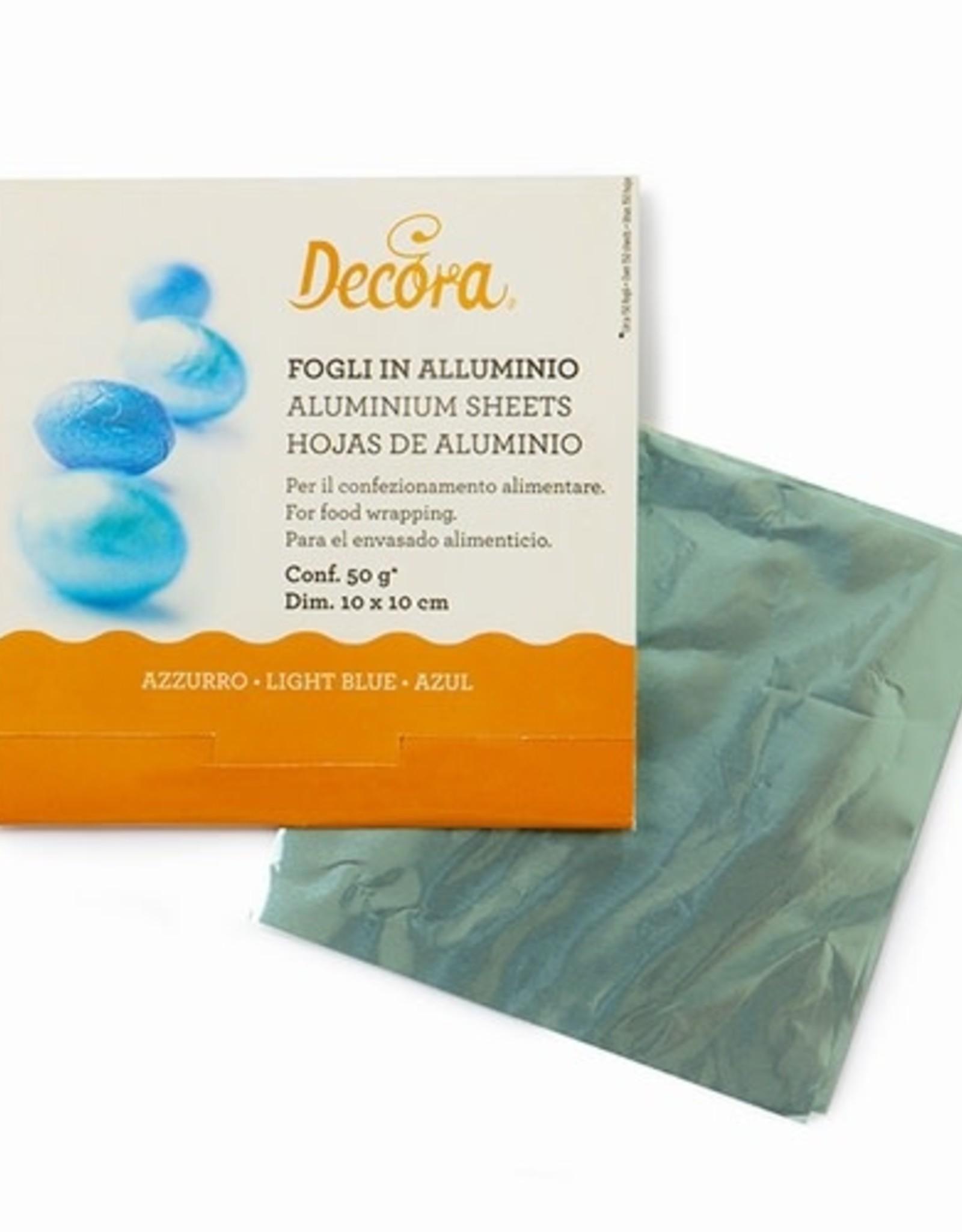 Decora Decora Foil Wrappers Light Blue pk/150