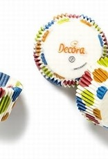 Decora Decora Baking Cups Blue Rings 50X32mm/75