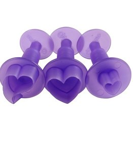 Wilton Fondant Mini Cutters -Hearts- Set/3