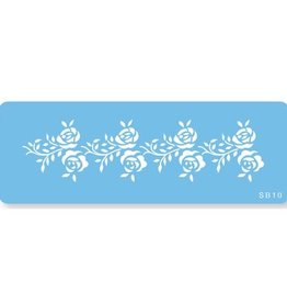 JEM Rose Frieze Border Stencil