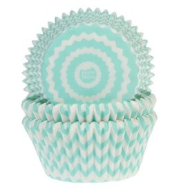 House of Marie House of Marie Baking Cups Chevron Mint pk/50