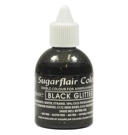 Sugarflair Airbrush Colouring -Glitter Black- 60ml