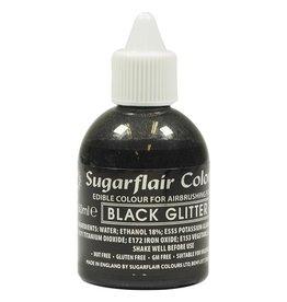 Sugarflair Sugarflair Airbrush Colouring -Glitter Black- 60ml