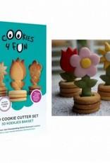 "3D Koekjes Bakset ""Hollandse bloempotjes"""