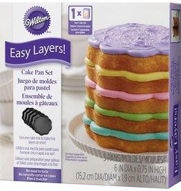 Wilton Wilton Scalloped Cake Pan Easy Layers -15cm- Set/5