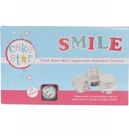 Cake Star Cake Star Push Easy Alphabet Cutters Uppercase Mini  Set/26
