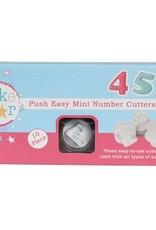 Cake Star Cake Star Push Easy Numbers Cutters Mini  Set/10