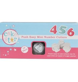 Cake Star Cake Star Push Easy Numbers Cutters Mini  Set/10