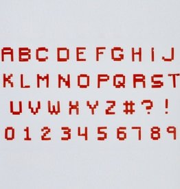 FMM Alphabet & Numbers Tappits Pixel Upper Case