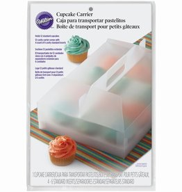 Wilton Wilton Durable Cupcake Carrier Clear 12