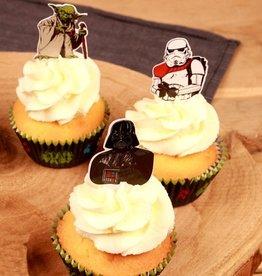 Stor Stor Papieren Cupcake Toppers Star Wars pk/24