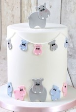 FMM FMM Mummy & Baby Hippo Cutter Set/4