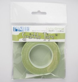 PME Glitter Tape -Pale Green Silver-