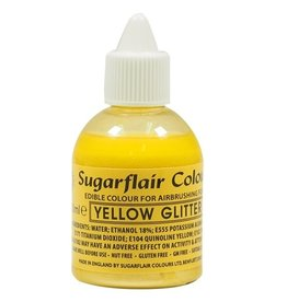 Sugarflair Sugarflair Airbrush Colouring -Glitter Yellow- 60ml