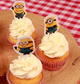 Stor Stor Papieren Cupcake Toppers Minions pk/24