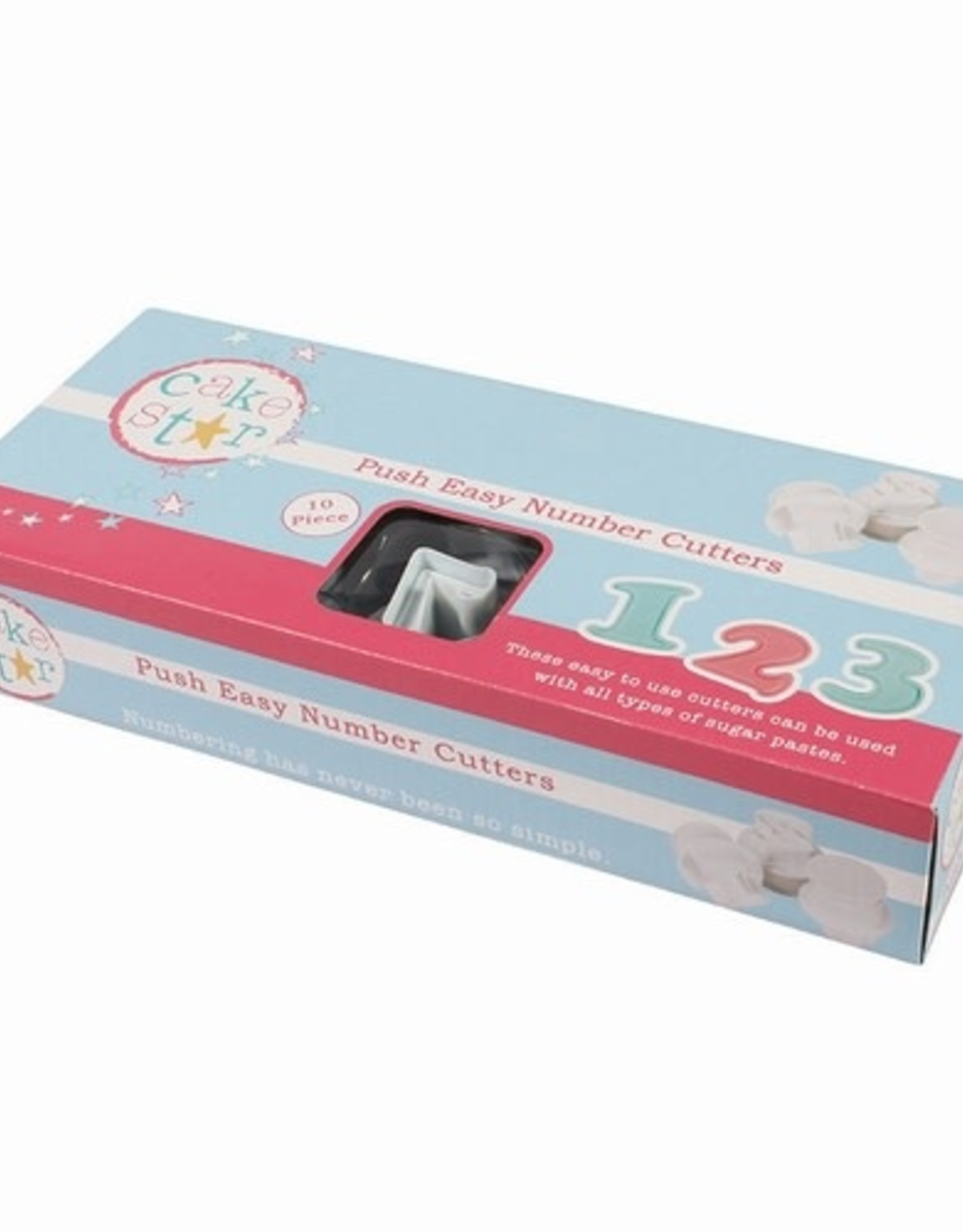 Cake Star Cake Star Push Easy Numbers Cutters Set/10