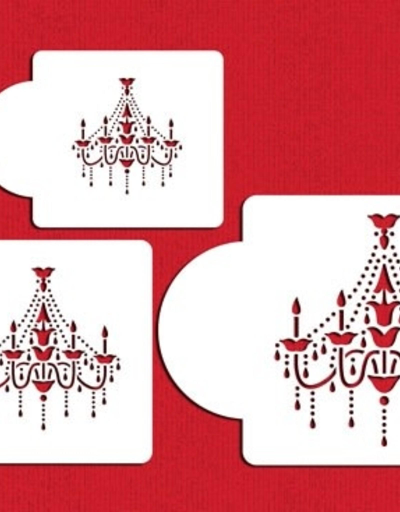 Designer Stencils Designer Stencils Chandelier Set/3