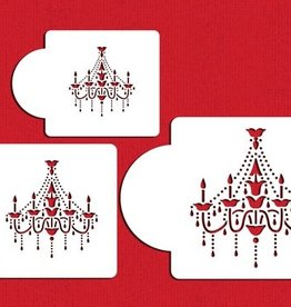 Designer Stencils Chandelier Set/3